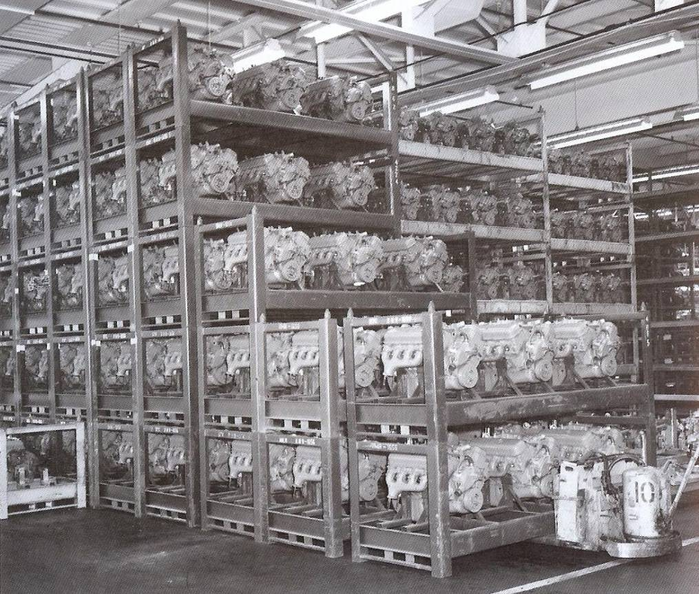 Racks of big block engines