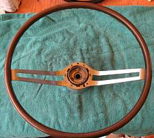 1964-1966 Buick two spoke walnut steering wheel