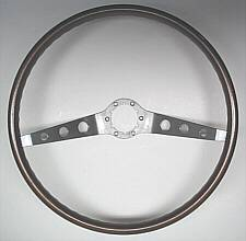 1964-1966 Chevrolet two spoke walnut steering wheel