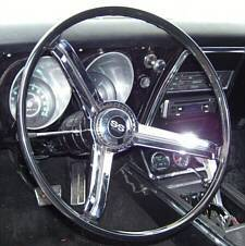 "1967 Z87 Steering Wheel with ""SS-350"" horn cap"