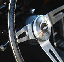 Close-up of NK1 Steering Wheel