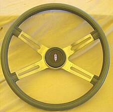 "1970's Olds Omega & Olds Starfire 14"" Sport Grip Steering Wheel (note the faux threads)"